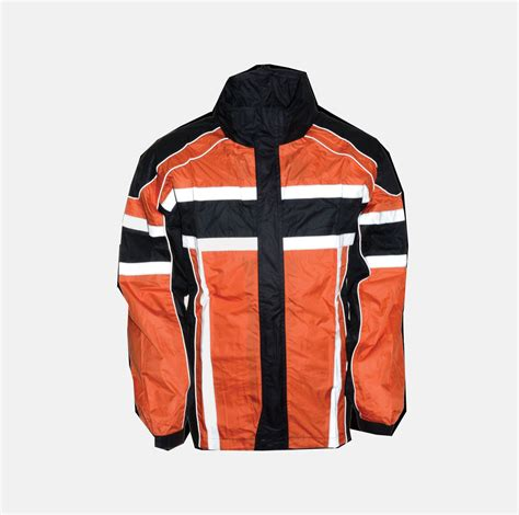 motorcycle rain gear men s motorcycle 100 nylon rain suit black orange