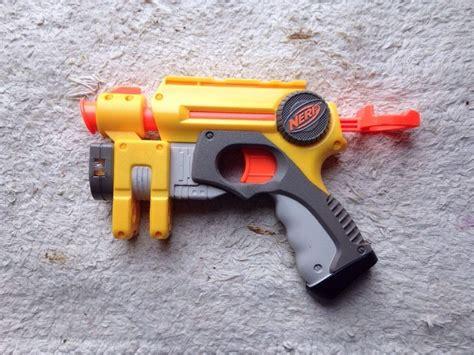 Jual Laser Soft Gun by Nerf Pullback Soft Dart Gun With Laser Sight Dart