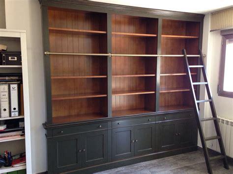 librerias con escalera estantera de diseo con escalera