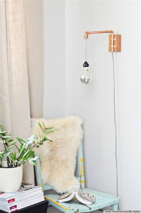 Diy Wall Sconce A Diy Wall Sconce Made From Copper Pipes Is The Industrial Chic Accessory Photos