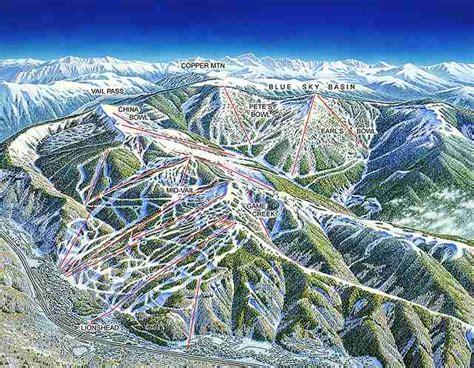 vail colorado ski map destination vail oversauced