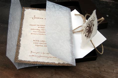 Handmade Wedding Invitations Diy - diy handmade paper wedding invitations infoinvitation co