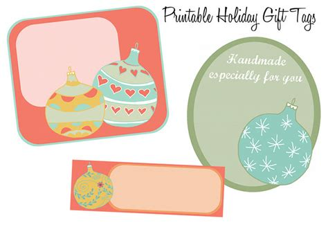 printable christmas ornament tags printable christmas tree ornament holiday gift tags
