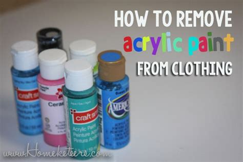 acrylic paint clothes how to remove acrylic paint from clothing best crafts on