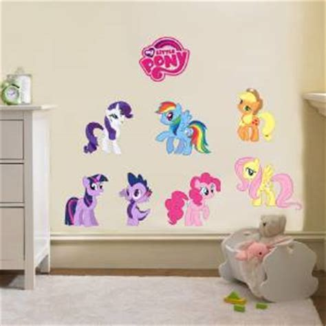 my little pony home decor my little pony 7 characters logo decal removable wall