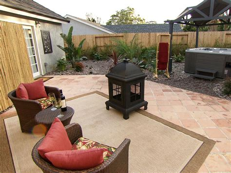 diy small backyard featured in indoors out episode outdoor office lounge fire
