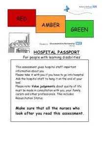 hospital passport template urgent care pathway hardcastle berkshire