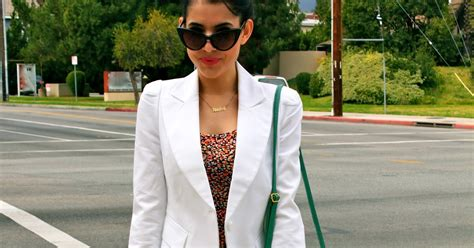 Dress Floral White Blazer checkinthemirror ootd white blazer floral mini dress minty green shoulder bag