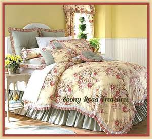 11 king buttery yellow floral toile comforter set