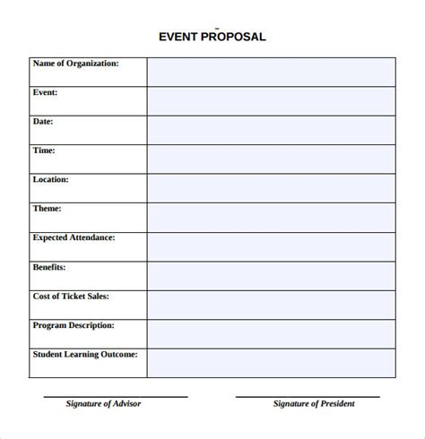 event templates for word sle event proposal template 25 free documents in pdf