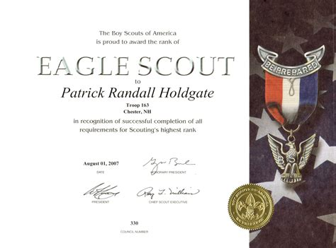 eagle scout certificate template certificates of appreciation template for cub scouts