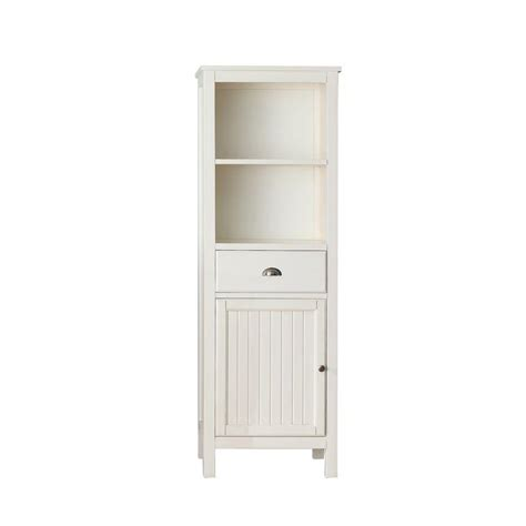 White Bathroom Storage Tower Avanity Hamilton 22 In W X 65 In H X 14 1 2 In D Bathroom Linen Storage Tower Cabinet In
