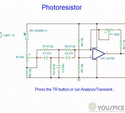 circuits with resistors and switches switch circuit activated by a photoresistor youspice