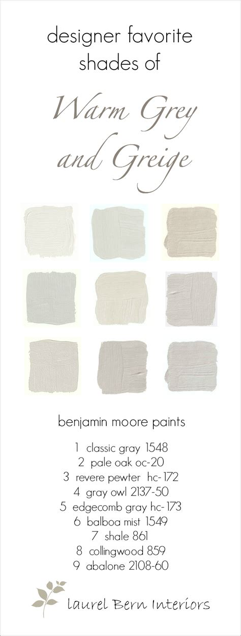 nine fabulous benjamin warm gray paint colors laurel home