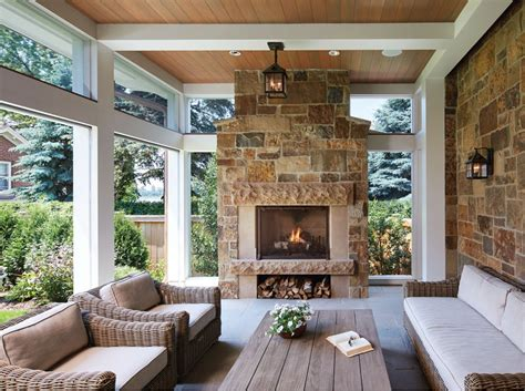 screened in porch designs with fireplace a country house in the city screened porches porch and