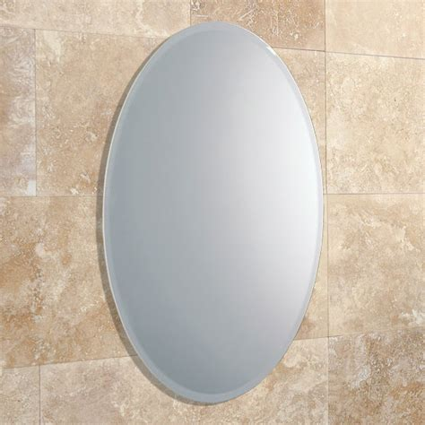 hib alfera oval shaped mirror with bevelled edge 61643000