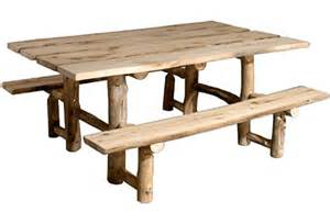 Outdoor Picnic Table Picnic Tables Rustic Log