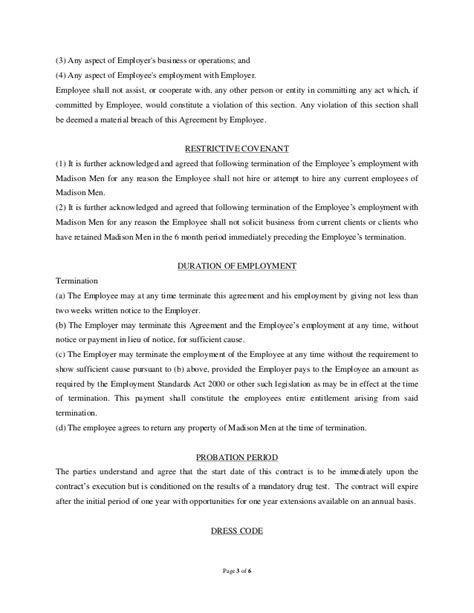 director employment contract template sle employment contract