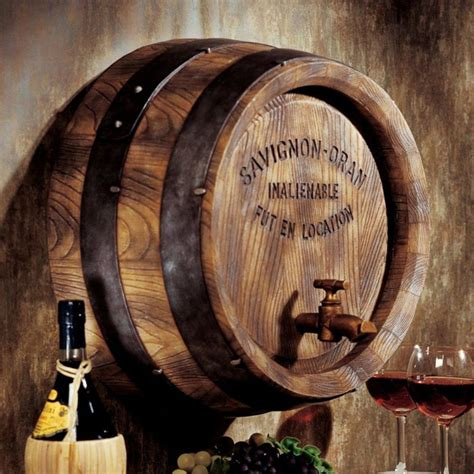 Wine Barrel Wall Decor by Wine Barrel Wall Sculpture Decor Wine Rack Vineyard