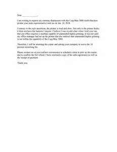 copy machine complaint letter