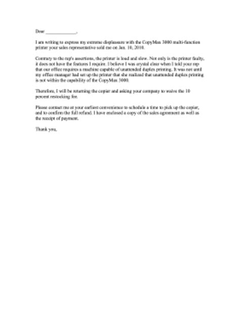 Complaint Letter For Poor Service Of Printer Copy Machine Complaint Letter