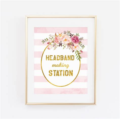 Baby Headbands Baby Shower by Printable Baby Shower Sign Headband Station Sign