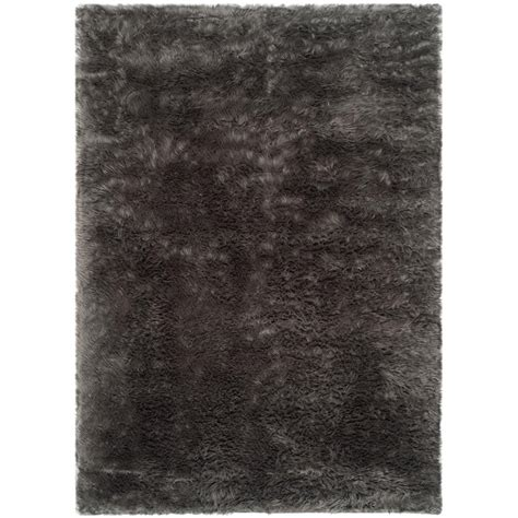 Safavieh Sheepskin Rug by Safavieh Faux Sheep Skin Gray 8 Ft X 10 Ft Area Rug