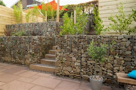 Clever Kitchen Designs Gabion Wall How To Use It In The Garden Landscaping