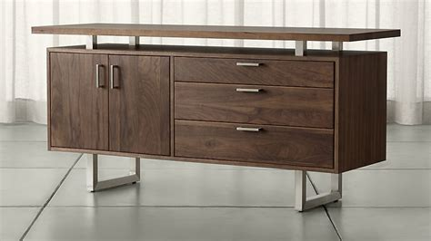 walnut credenza clybourn walnut credenza crate and barrel