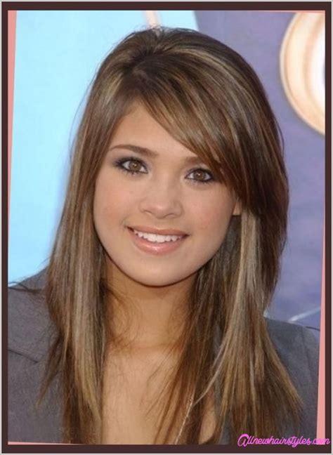 girl hairstyles with side bangs girl medium haircuts with side bangs allnewhairstyles com