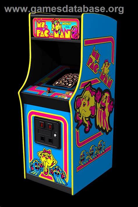 pac man arcade cabinet ms pac man arcade games database