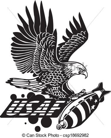 vector of us air force military design vinyl ready