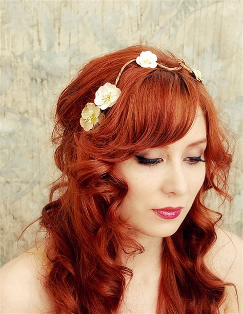 bridal hairstyles for red hair diy bridal hairstyles she12 girls beauty salon