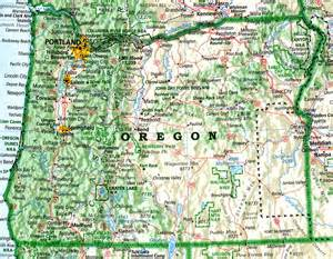 a map of oregon oregon david imus puts geography on the map