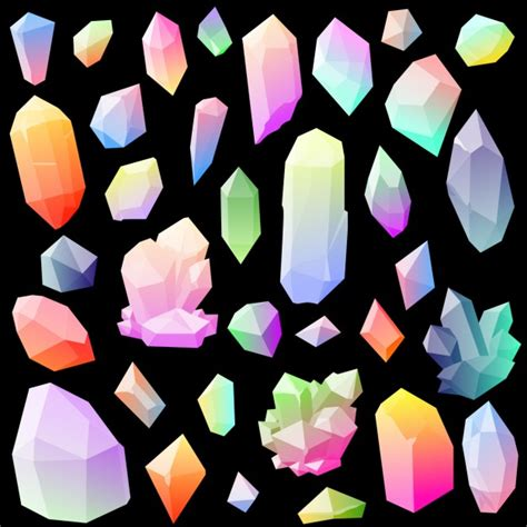 colorful stones colorful gemstones vector free