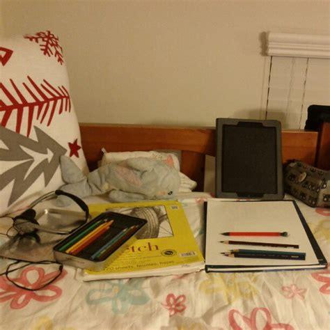 i often turn bed into a makeshift studio xd