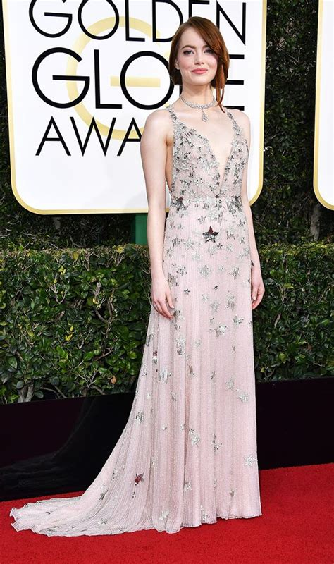 emma stone golden globes 2017 golden globes 2017 the best red carpet looks whowhatwear uk
