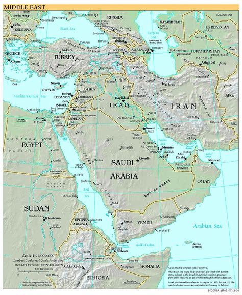 middle east political map hd free high resolution map of the middle east