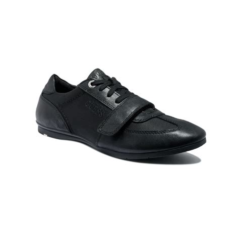 mens black velcro sneakers guess acton lace up velcro sneakers in black for lyst