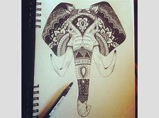 elephant face tattoo - Google Search   Luke Tattoo ... Indian Elephant Henna Drawing
