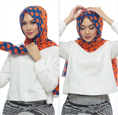 tutorial hijab ala blogger tutorial hijab ala wanita turki dengan polyester scarf