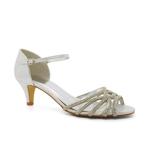 womens evening uk low kitten heel prom sandals size