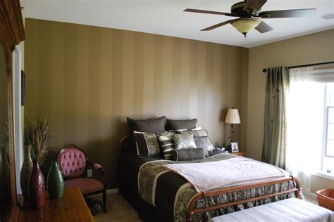 wall coverings for bedrooms striped accent wall traditional bedroom other metro