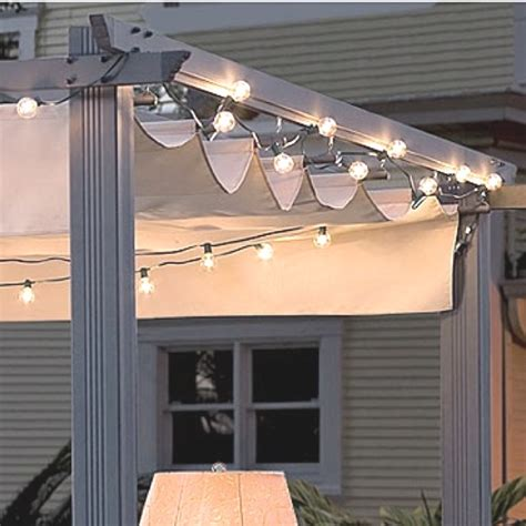 Patio Awning Lights 12 Best Images About Pergolas With Retractable Awnings On Cable Columns And Solar