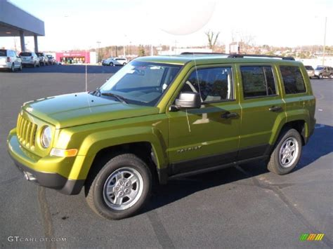 green jeep patriot 2012 rescue green metallic jeep patriot sport 4x4