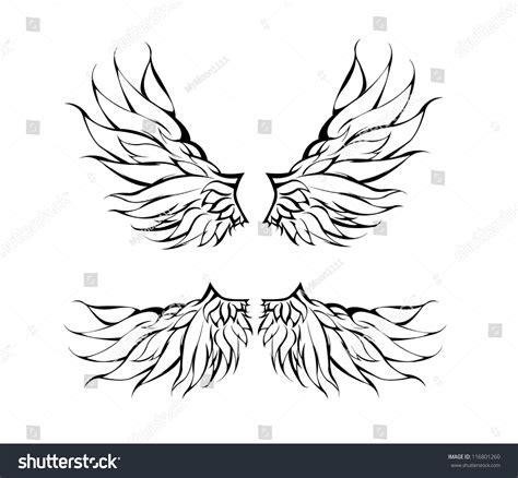 tattoo tribal wings designs vector tribal wings design vector 116801260