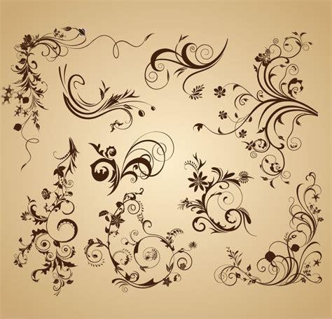 set of design elements vector set of floral vintage vector design decoration elements
