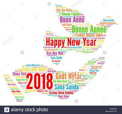 happy new year in different languages stock photos happy