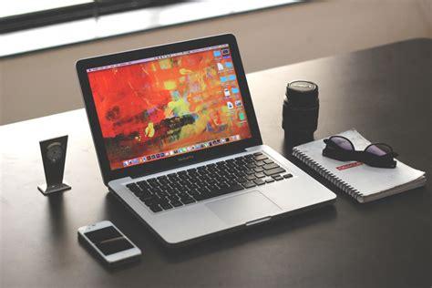 Laptop On Desk Free Images Laptop Iphone Desk Notebook Writing Table Technology Gadget Design Shape