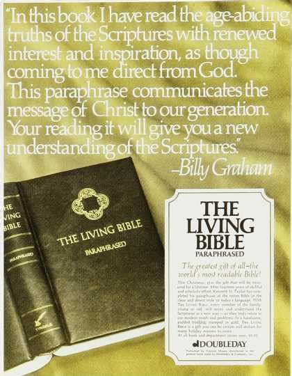 The Living Bible vintage books magazines and newspaper ads of the 1970s